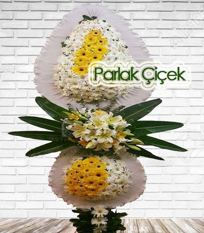 Aksesuarlı Düğün Açılış Çiçeği Çift Katlı Ayaklı Çelenk