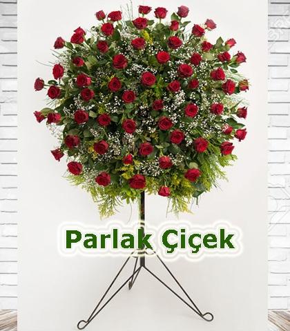 Ferforje Arajman Çiçek Aşk Kırmızı Gül