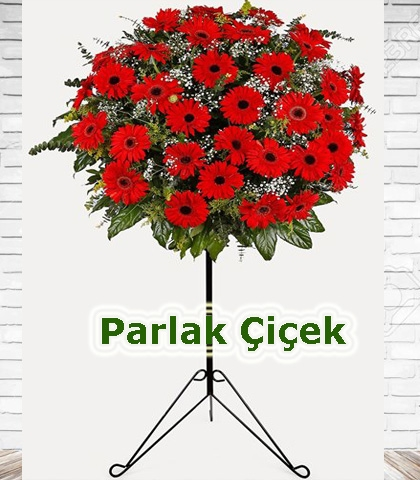 Ferforje Arajman Çiçek Kırmızı Gerbera