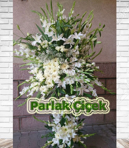 Ferforje Çiçek Arajman Çiçek Beyaz Harika
