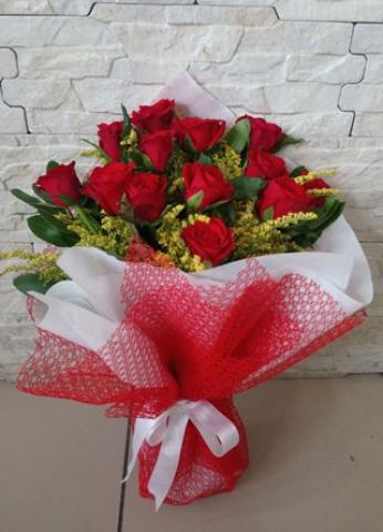 Kırmızı Gül Buketi Aşkıma 13