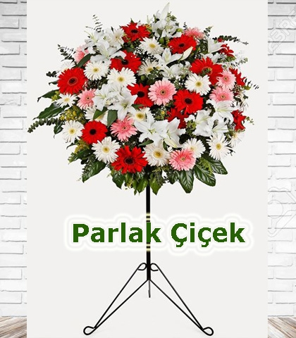 Ferforje Arajman Çiçek Renkli Pembe Beyaz