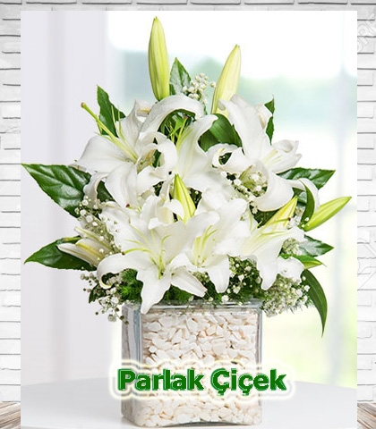 Beyaz Lilyum Arajman Çiçek