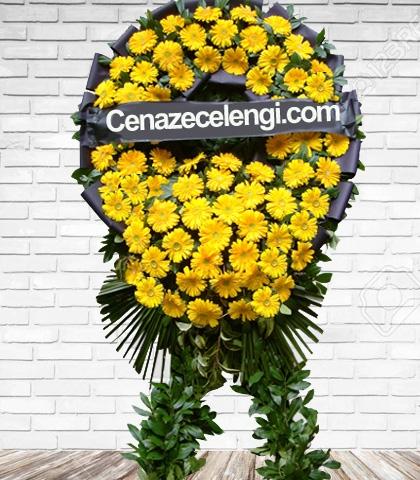 Cenaze Çelengi Sarı Gerbera