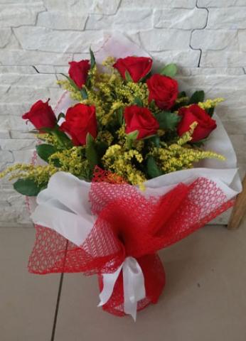 Kırmızı Gül Buketi Aşkıma 7
