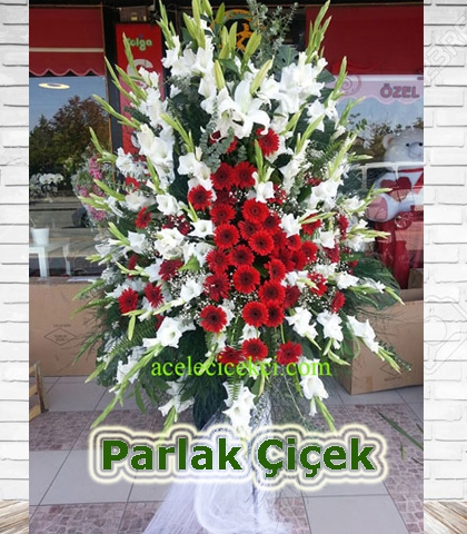Ferforje Çiçek Arajman Beyaz Kırmızı