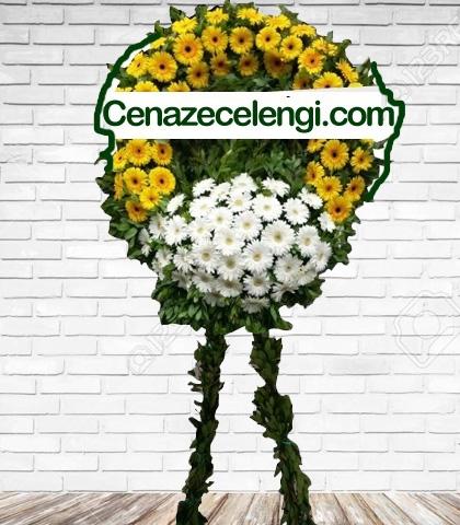 Cenaze Çelengi Sarı Beyaz